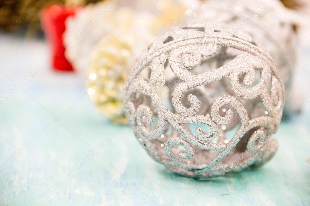 christmas decorations for the home vintage style concept of preparing for the holidays turquoise shabby wooden table background