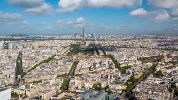 City panorama with the Eifel tower