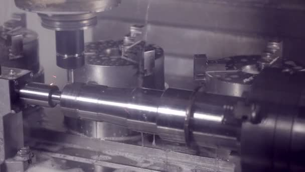 Drilling Milling CNC Machine Produces hi-tech equipment on industrial Factory.