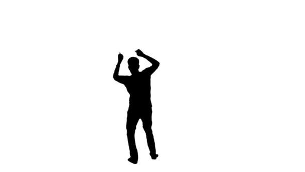 Dancing man. Silhouette 1.