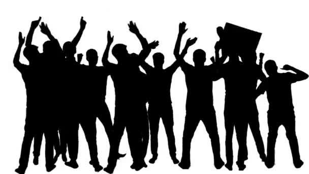 Multitud De Gente Silueta: Silueta De Personas Bailando La Multitud