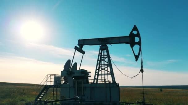Az olajszivattyú-extraháló olaj légi rálátása