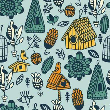 cartoon cute birdhouses