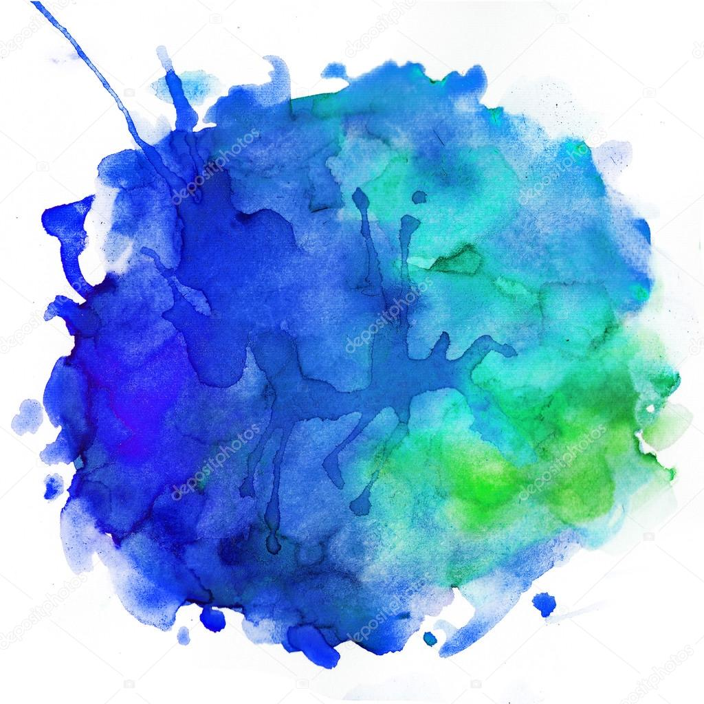 Blue and green watercolor splash texture background photo by furzikava