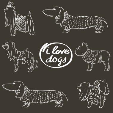 I love dogs inscription
