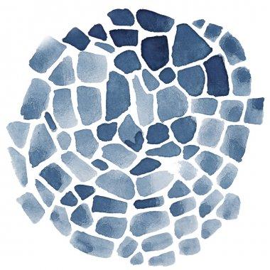 Abstract watercolor mosaic