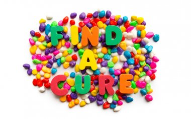 find a cure word in colorful stone useful business word