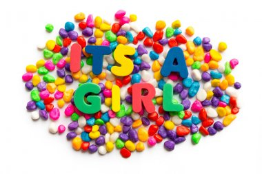 its a girl word in colorful stone useful business word