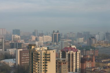 The center of Novosibirsk. View from above.