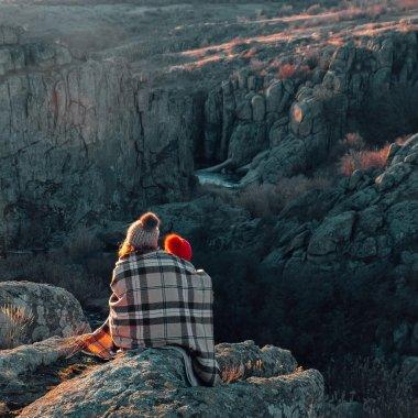 People admiring canyon