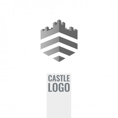 Castle, fortress vector logo. Tower architecture icon. Unique concept logotype for business.