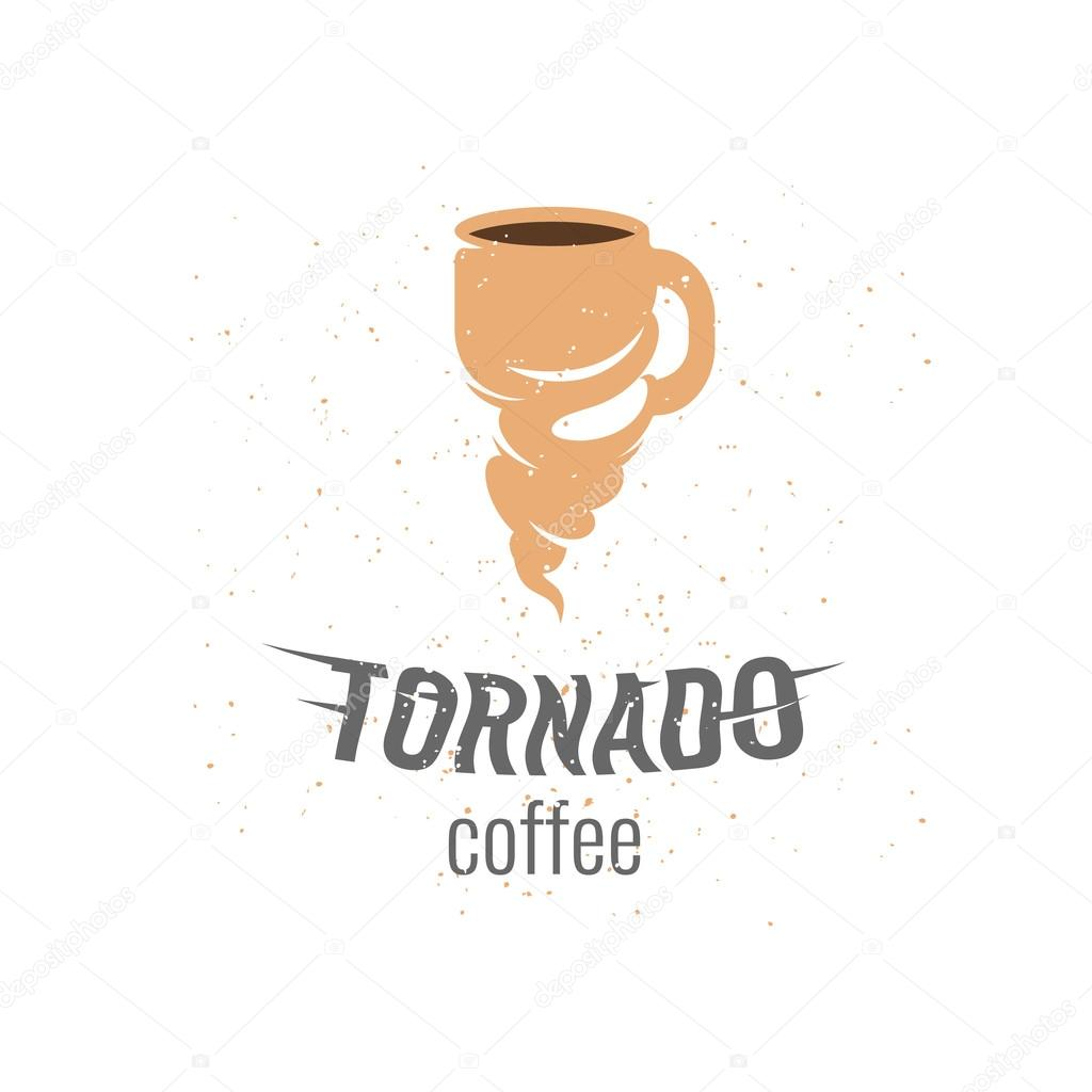 Tornado coffee logo template. Cup logo. — Stock Vector ...