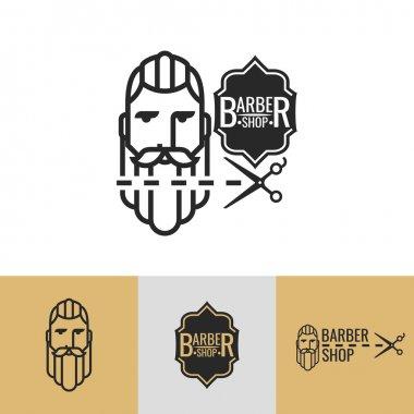emblems on a theme barber shop.