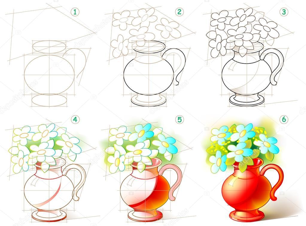 Sayfa Nasıl Güzel Bir Vazo çiçekleri Ile Boyamak Adım Adım öğrenmek