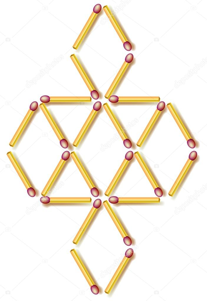 Move Four Matchsticks To Make Fourteen Rhombuses Logic Puzzle