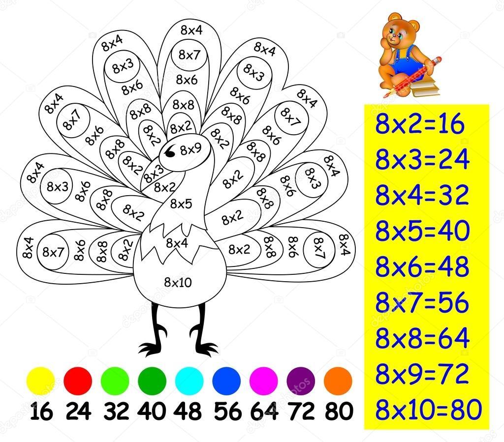 Imágenes Signo De Multiplicacion Para Colorear Ejercicio Para Los