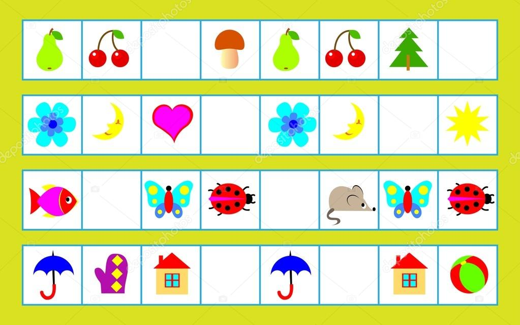 Puzzle de lógica para niños - tiene que encontrar regularidad y ...