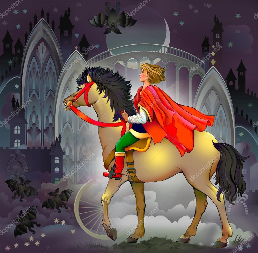 анимационная картинка сказочного принца на коне всем гостям