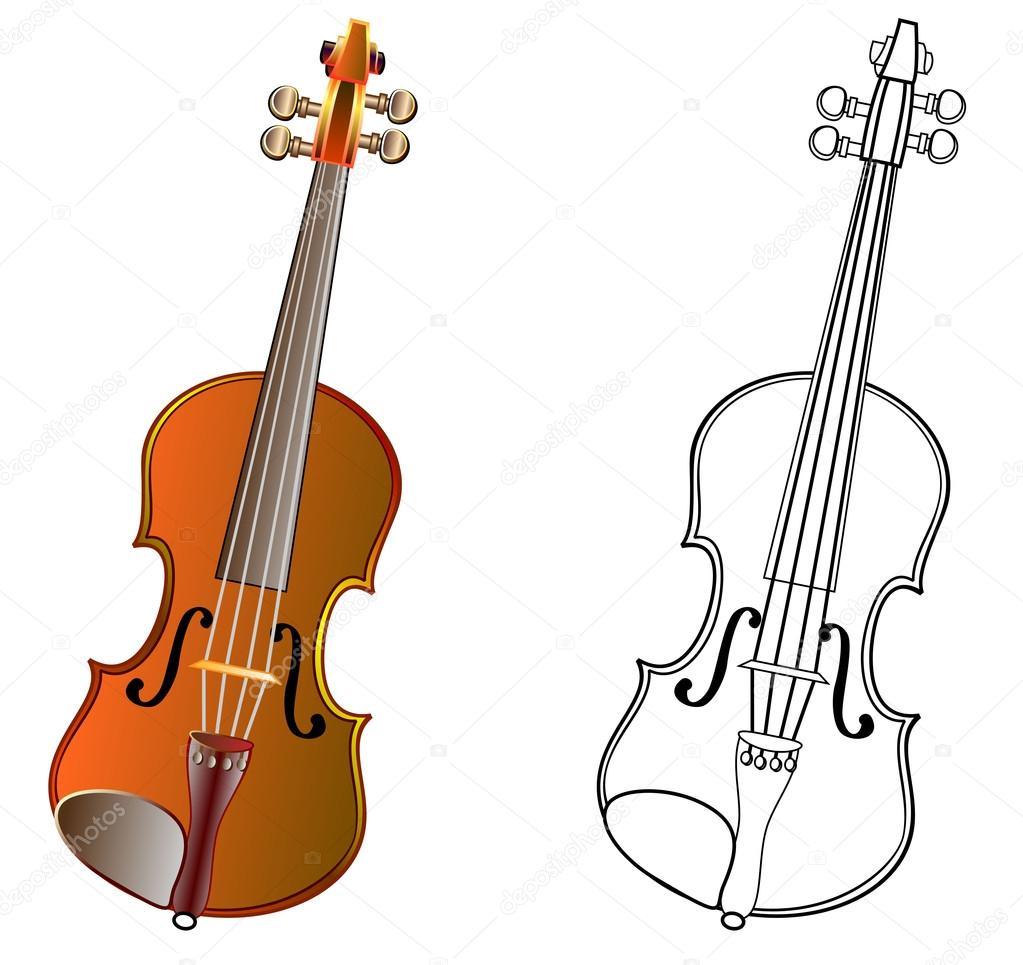 рисунок скрипач цветной и черно белые шаблон скрипки