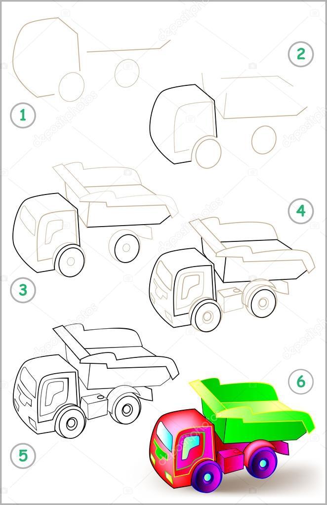 Pagina Muestra Como Aprender Paso A Paso A Dibujar Un Carro De