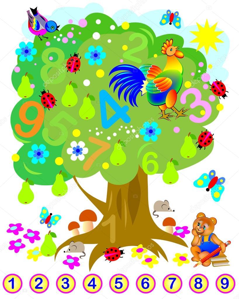 Übungen für Kinder - müssen finden die versteckten Zahlen und ...