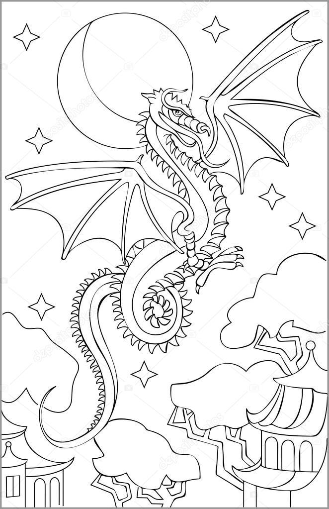 Dibujos: dragones en blanco y negro | Página con blanco y negro ...