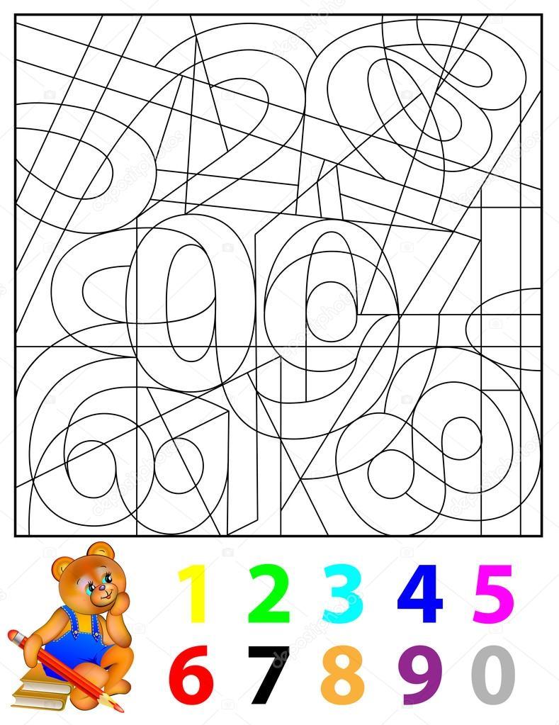 Ejercicios para niños - tiene que encontrar los números ...