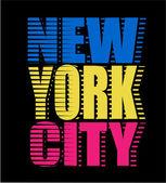 New York City neon typografie, grafické t-shirt