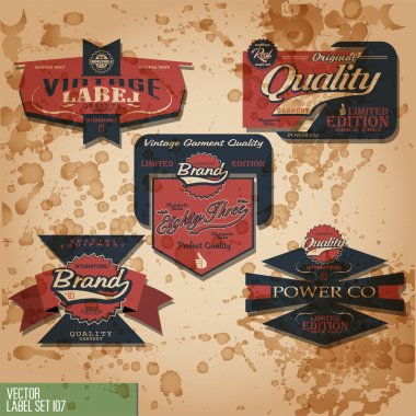 Vintage and retro signs and labels