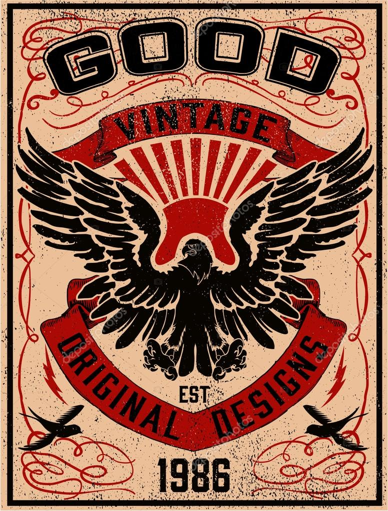 vintage american eagle ⬇ vector image by © swsctn80.hotmail.com | vector  stock 106452958  depositphotos