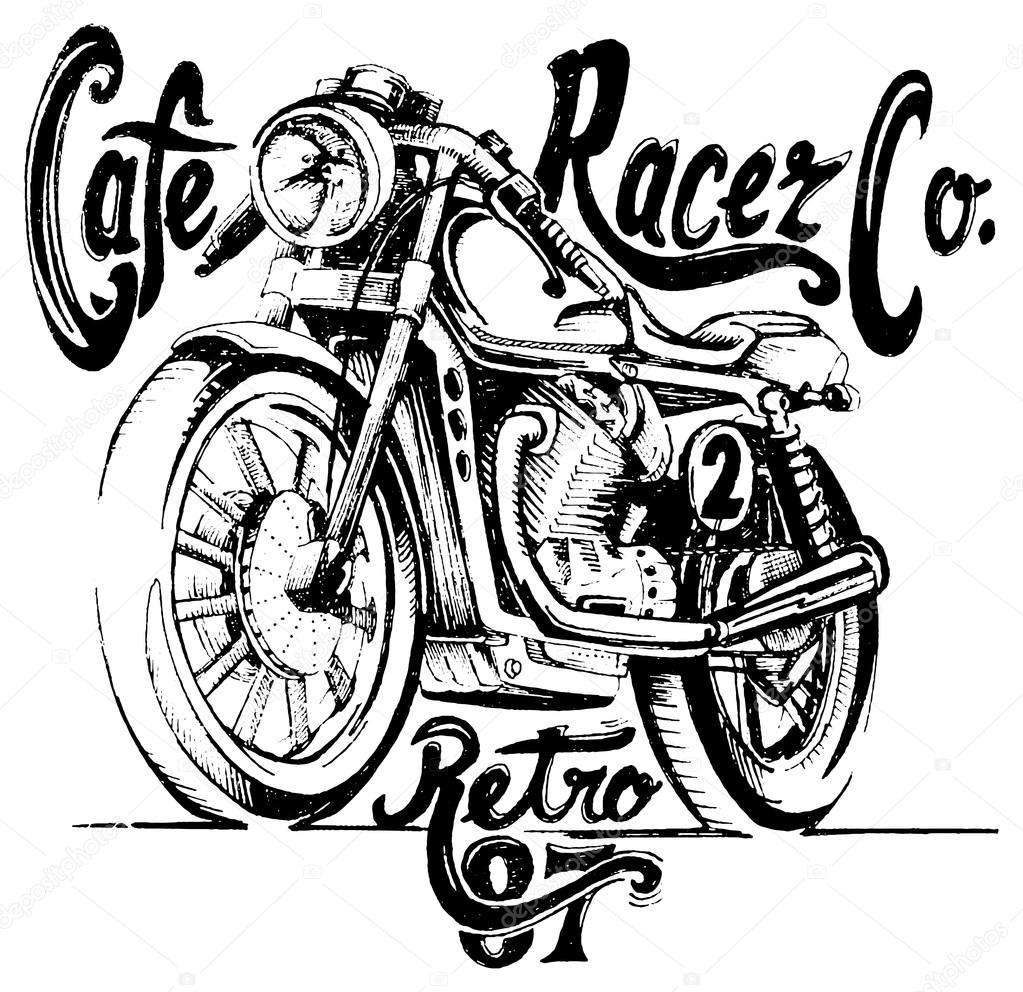 Cafe Racer Retro Poster Stock Vector C Swsctn80 Hotmail Com 106453188