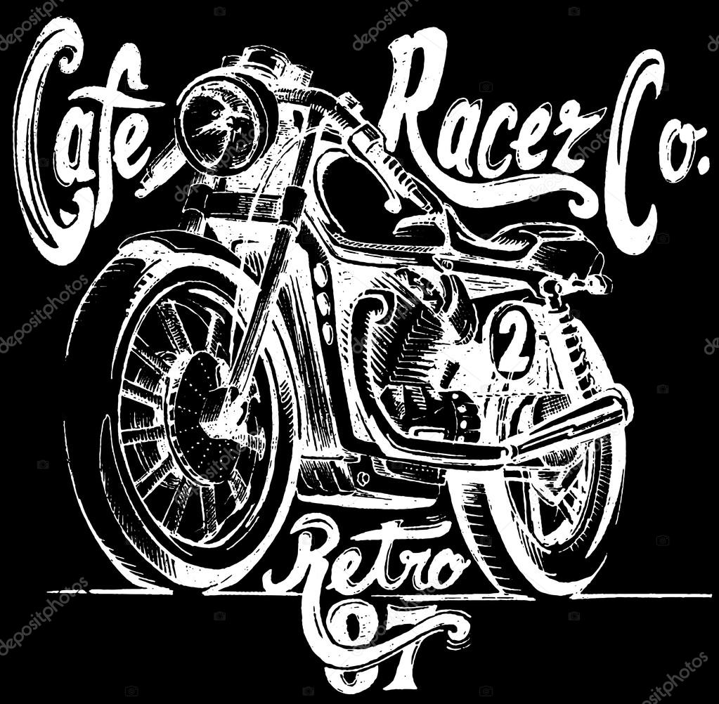 Cafe Racer Retro Poster Stock Vector