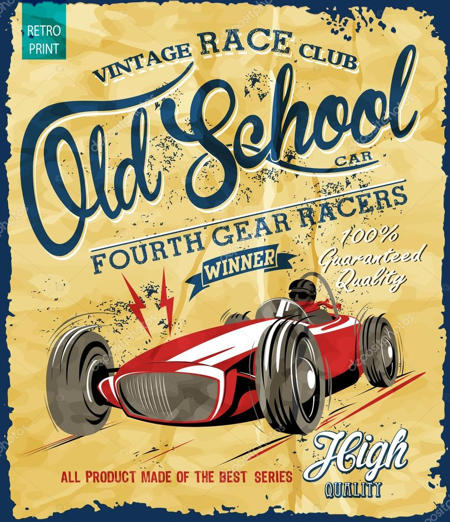 Vintage Race Poster For Printing Stock Vector C Swsctn80 Hotmail