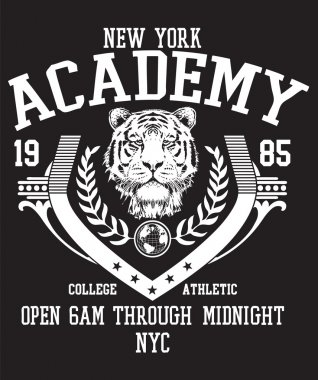 college sports vector print