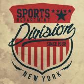 Atletický sportovní Kalifornie typografie
