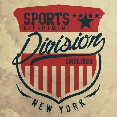 Athletic sport California typography, t-shirt graphics, vectors stock vector