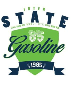 vector gasoline print