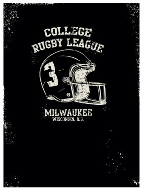 vector rugby print