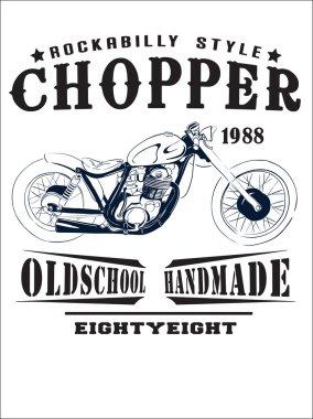 vector  vintage motorbike print