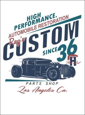 vector retro hand made car designs