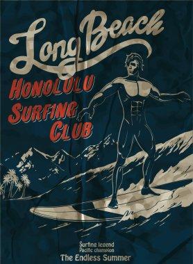 vector surf rider silhouette