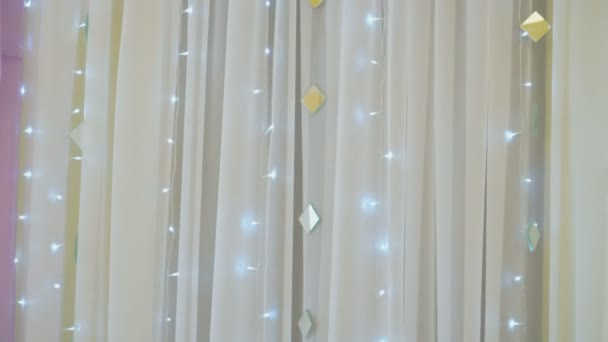 Gentle Hall Decoration For Wedding Reception Stock Video