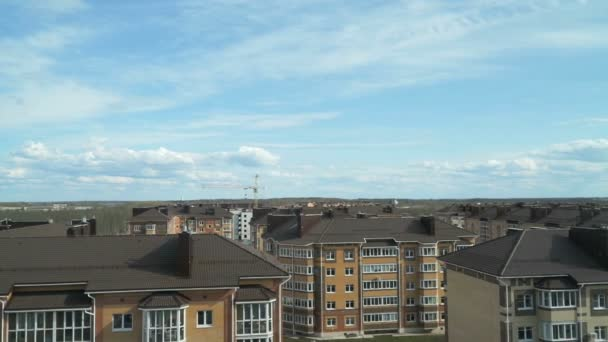 Residential complex on the background of blue sky