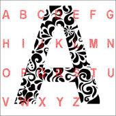 Fényképek Ábécé betűket piros fekete minták absztrakt