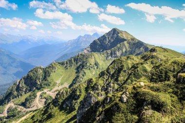 Caucasus Mountains. Russia, Sochi, Krasnaya Polyana, Rosa Khutor. Peak 2320m