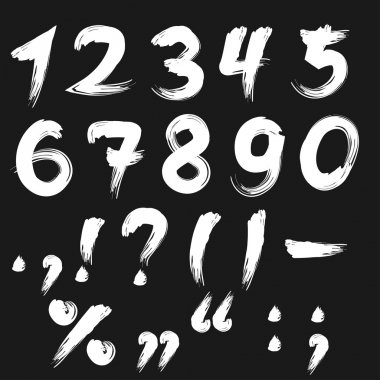 Brushed numbers white