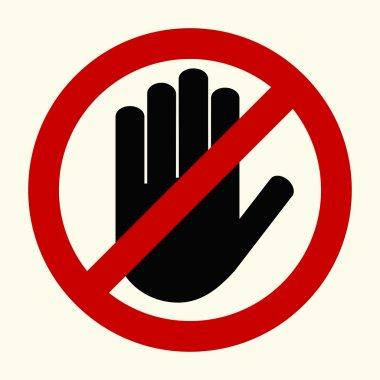 No entry stop hands