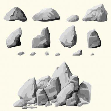 gray stones set