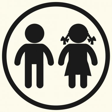 Boy and girl icons