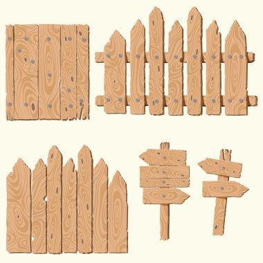 set of wooden planks